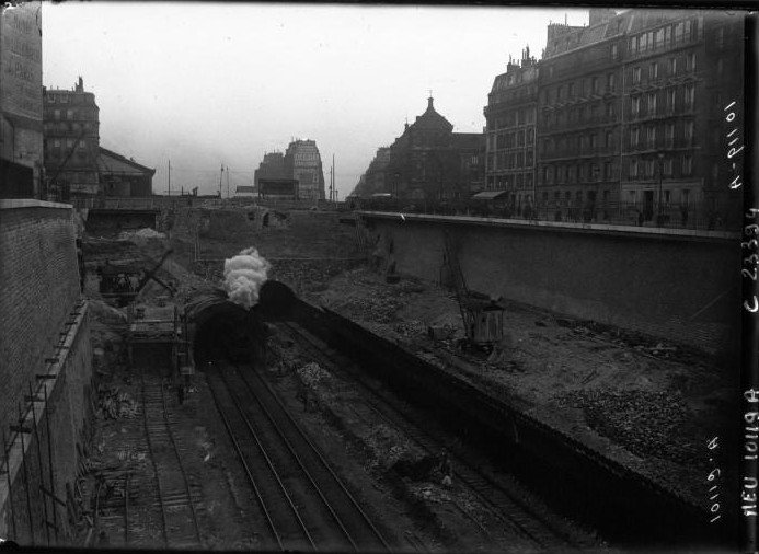 démolition tunnel batignolles